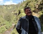 Miles at Santuario de Las Lajas.