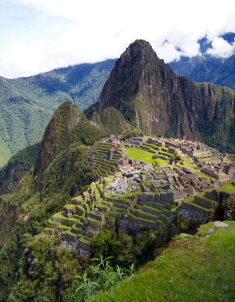The postcard view of Machu Picchu.
