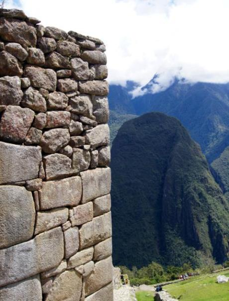 Hand-cut stonework at Machu Picchu.