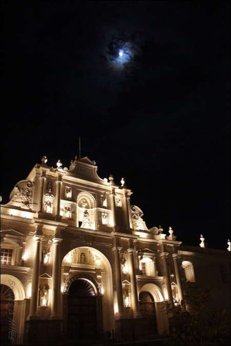 Church on Antigua's central square.