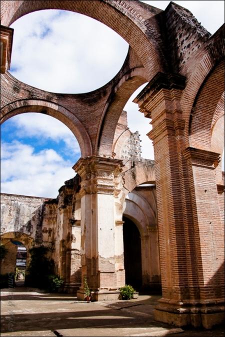 Antigua's cathedral undergoing restoration.