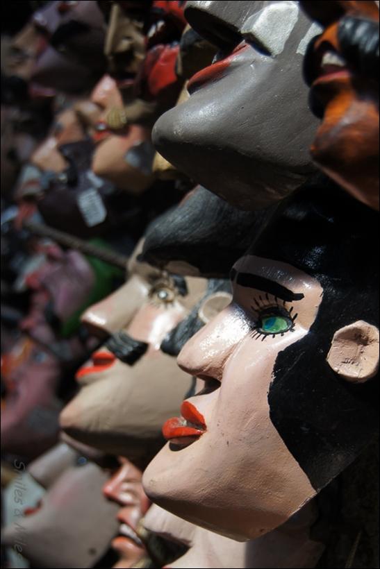 The craft market in Antigua.