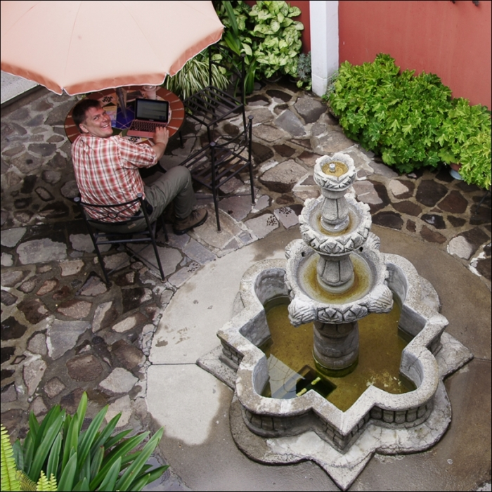 Relaxing at Casa Rustica.